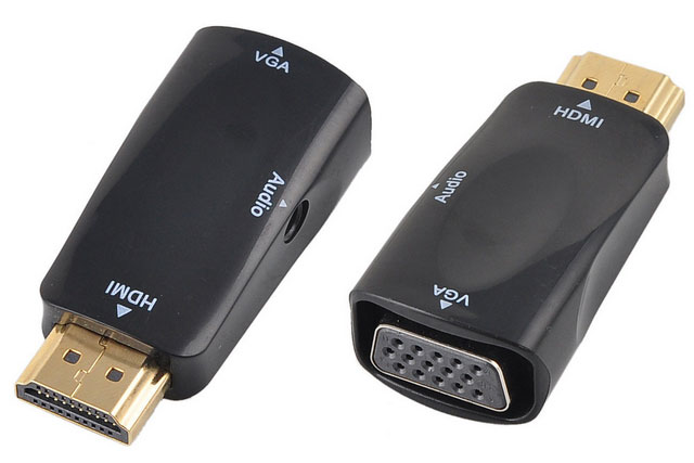 adaptateur hdmi vers vga sortie audio et c ble. Black Bedroom Furniture Sets. Home Design Ideas