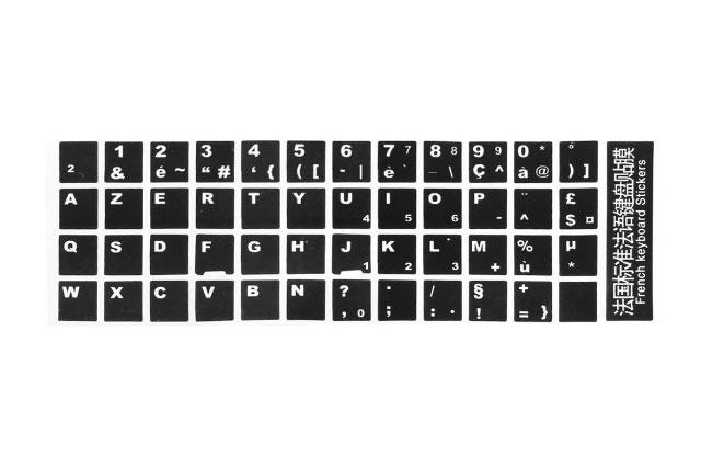 stickers clavier azerty basic pour claviers qwerty ou autre. Black Bedroom Furniture Sets. Home Design Ideas